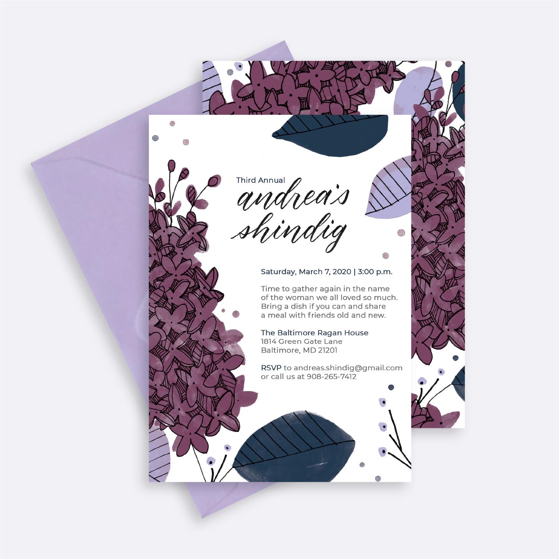 custom floral invitations